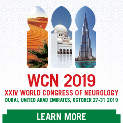 24th World Congress of Neurology, October 27 – 31, 2019, in Dubai, UAE